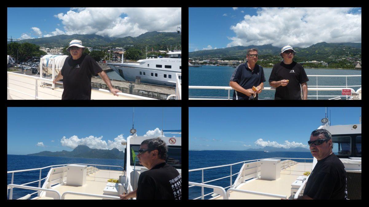 Départ en ferry vers l'île soeur
