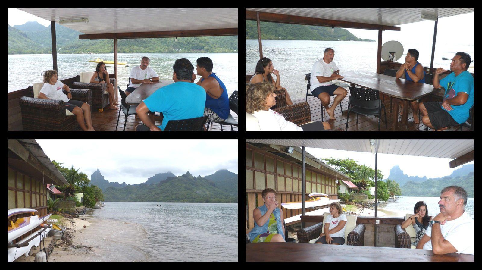 Maison louée pour le week end au bord de l'eau dans la baie d'Opunohu