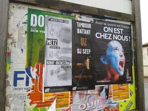 Février 2013 – Nouvelle campagne d'affichage du FN sur Buxerolles