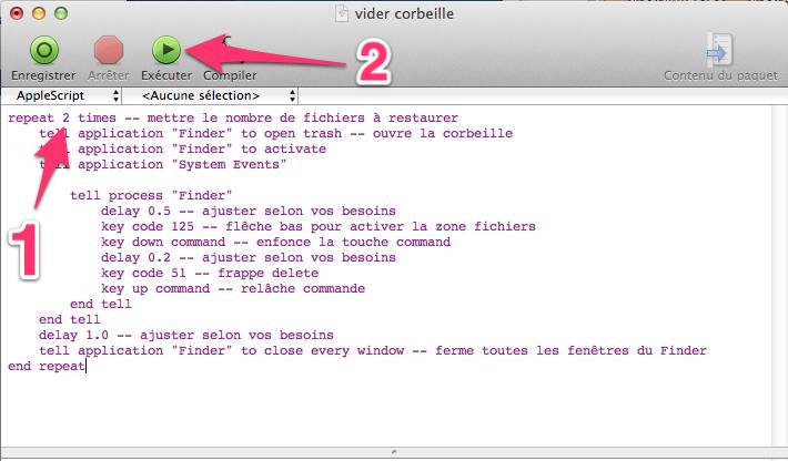 Restaurer toute la corbeille sous Mac OS X