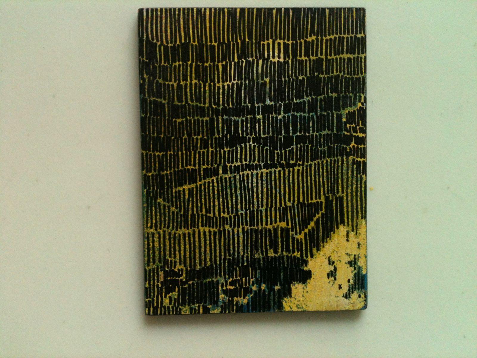 """""""Orphelin de père en fils III"""", 2012, bombe et marker, 6,1 x 8,1 cm.."""