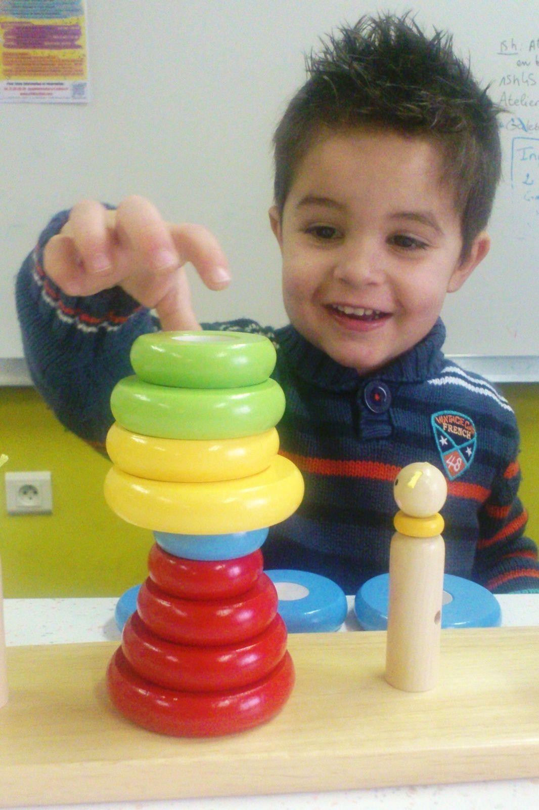 Comment l'enfant trouve, de lui-même,une utilisation du jouet qui lui correspond et lui fait plaisir...