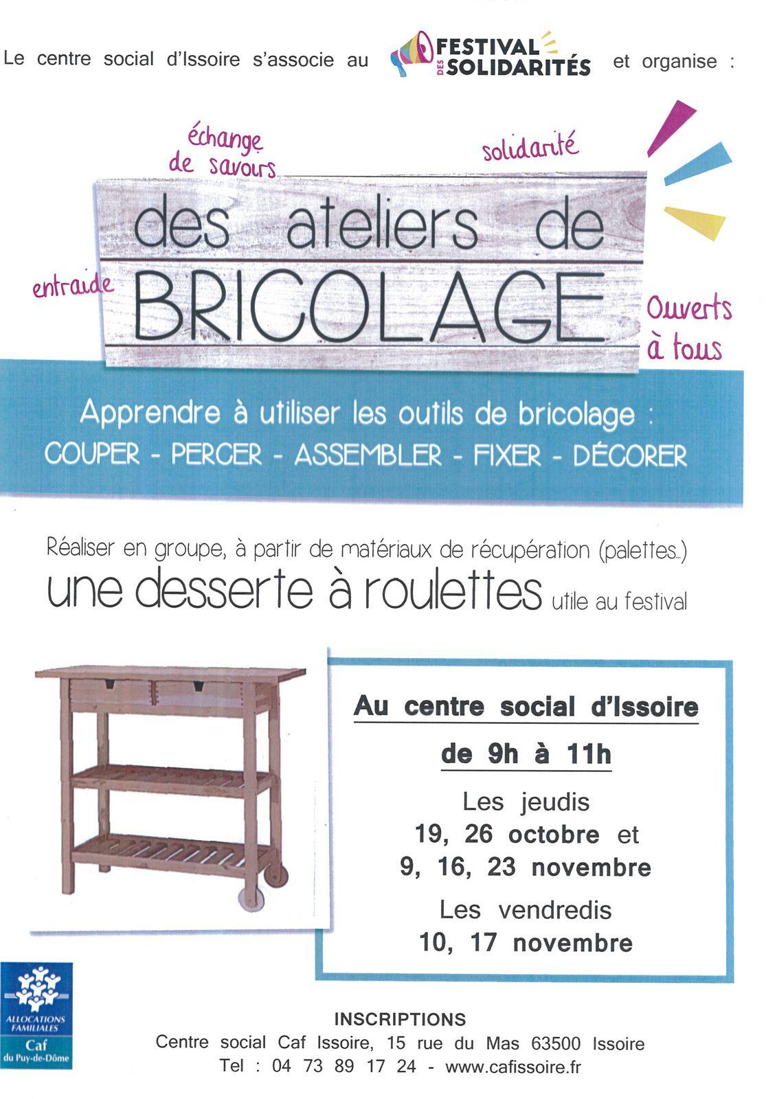 Nouveaux ateliers au Centre Social CAF à Issoire !