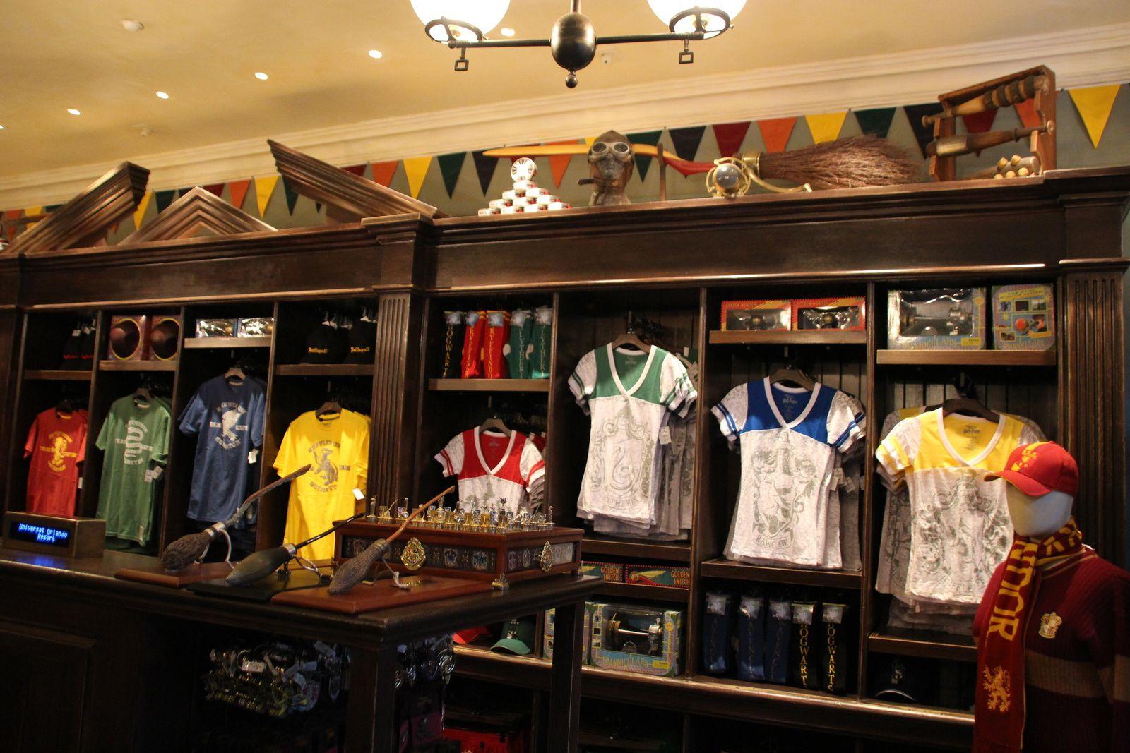 Les boutiques du Wizarding World of Harry Potter !