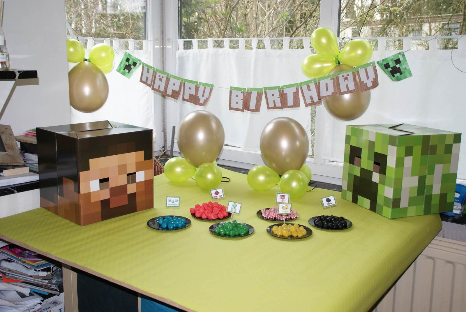 minecraft birthday. Black Bedroom Furniture Sets. Home Design Ideas