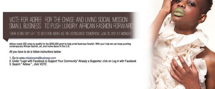 Vote for Adirée for the Chase and Living Social Mission: Small Business℠