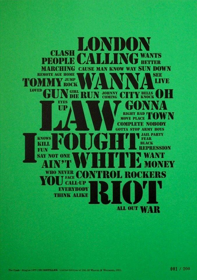 Petite info !+ Sélection du net &quot&#x3B;The Clash&quot&#x3B;