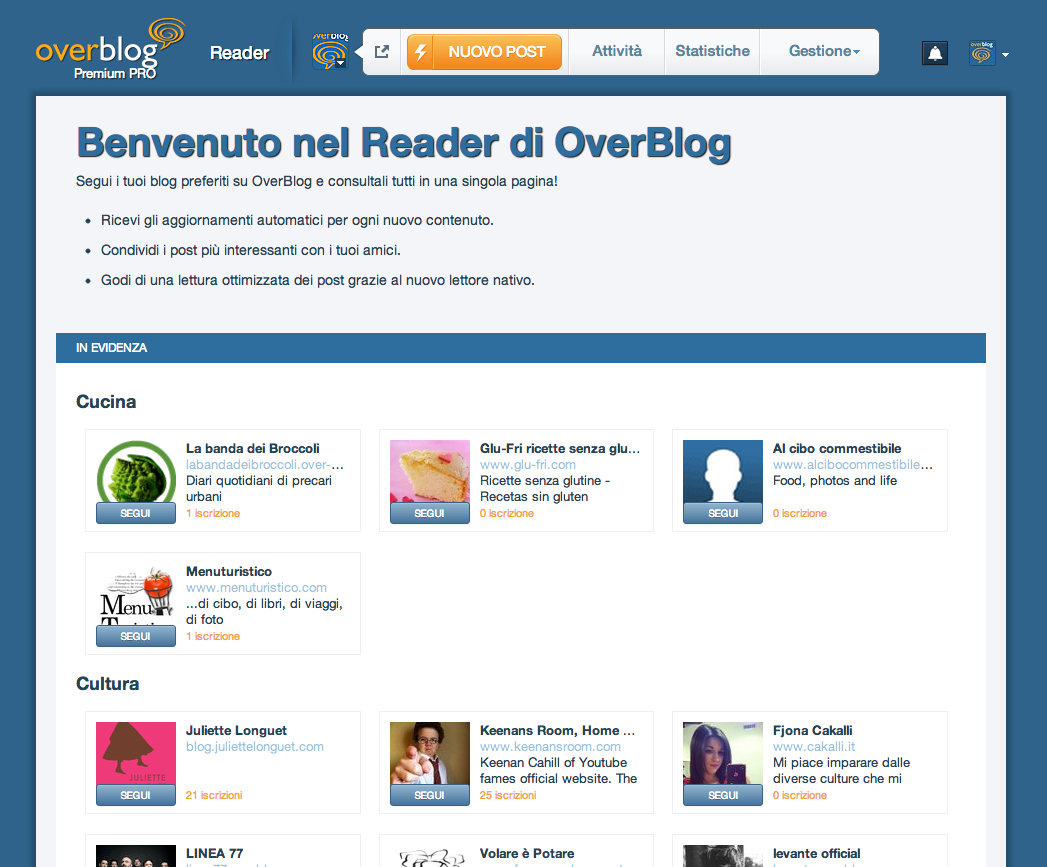 Le news dell'estate: OverBlog rilascia il Reader!