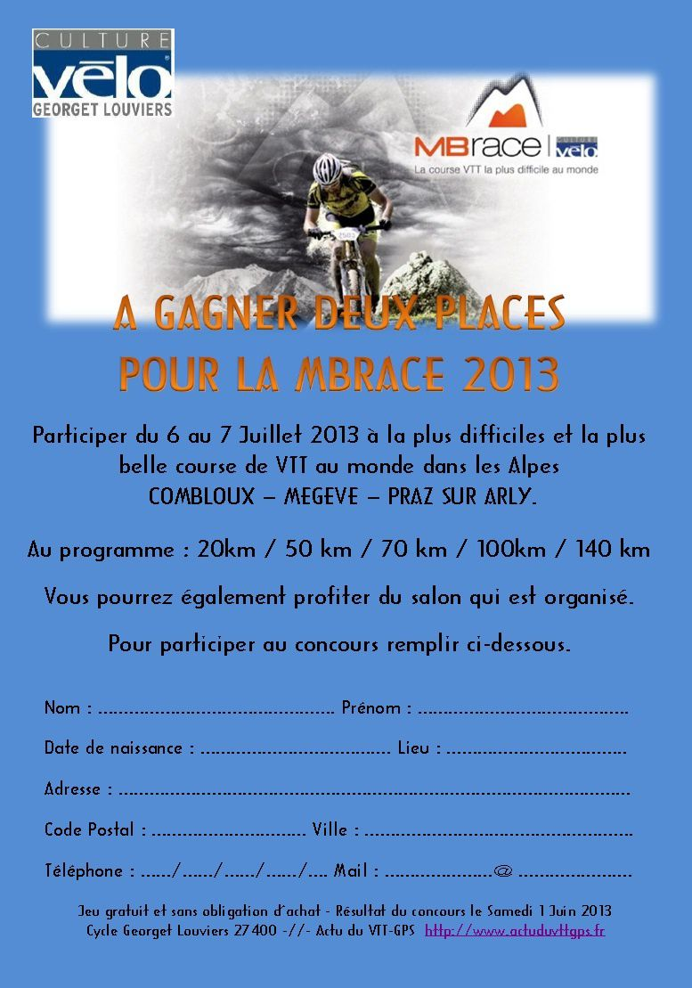Concours MB Race 2013