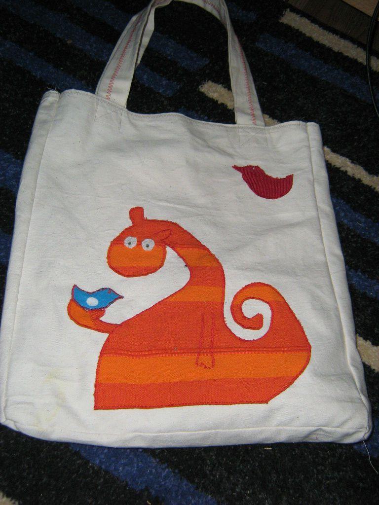 Le sac une fois finit.