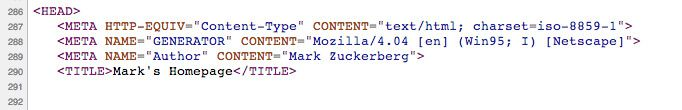 Le premier site de Mark Zuckerberg ?