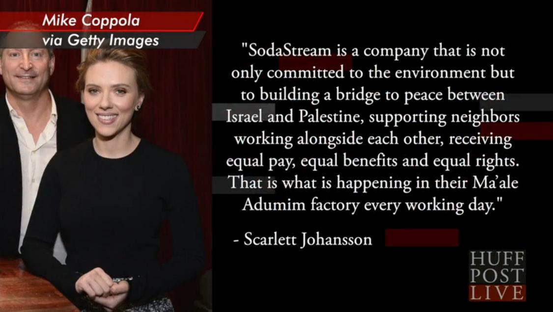 Scarlett Johansson : Sorry Coke & Pepsi, maintenant, tout le monde connait SodaStream !
