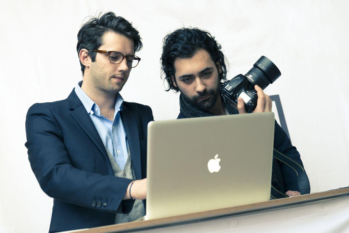 Alexis Caradet et Marc Ramos, co-fondateurs de Portrait 2.0.