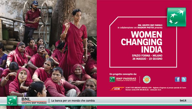 "L'affiche de l'exposition ""Women Changing India"", lancée en 2010."