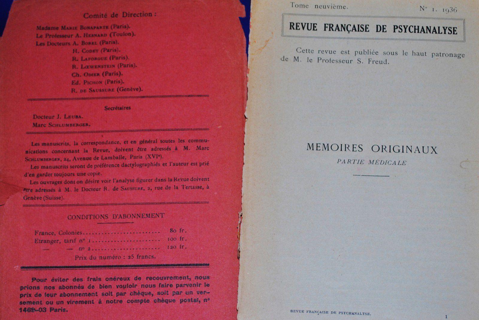 revue francaise de psychanalyse page .