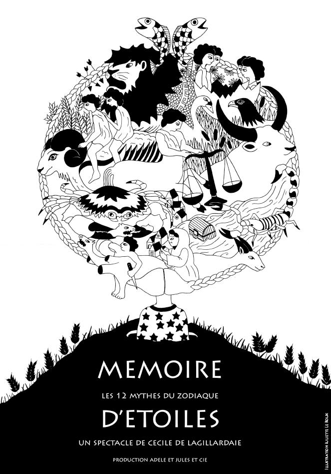 L'affiche : Mémoire d'étoiles - dessin Juliette Leroux.