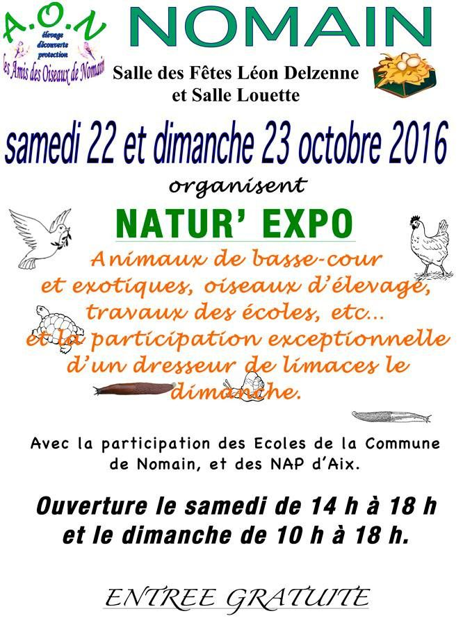 Le week-end du 22 &amp&#x3B; 23 octobre: La LPO Nord s'expose à Natur'Expo!