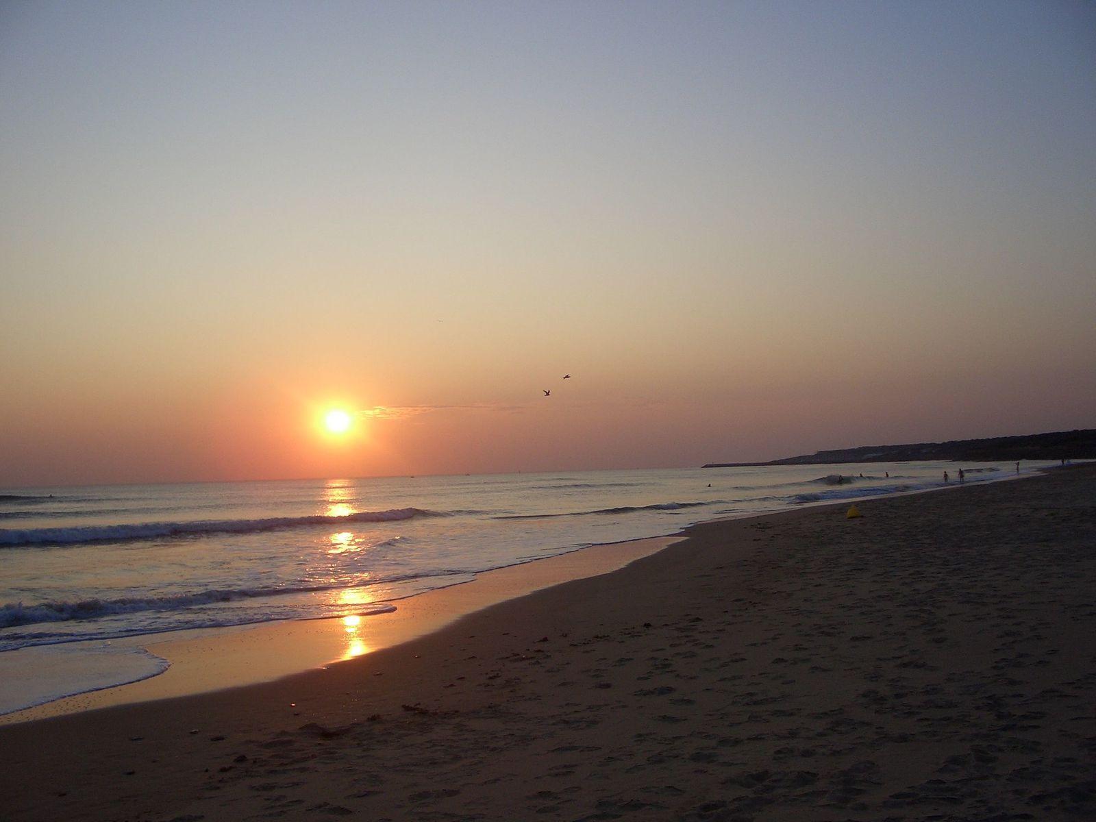 coucher de soleil au Veillon