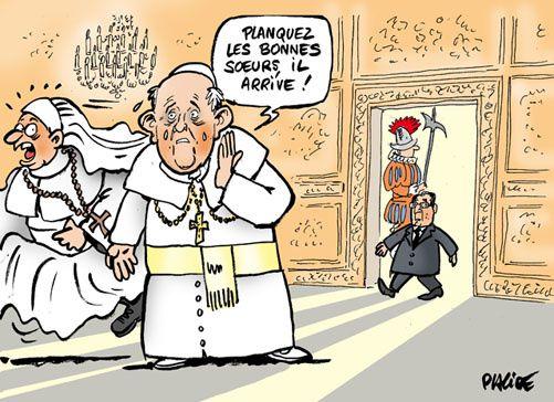 Le Pape, Sarkozy et Hollande