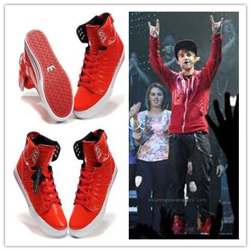 Hot Red Justin Bieber Supra Skytop Weiliang0213 Overblog Com