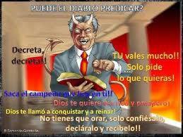EL DIABLO DICE = TU NO NECESITAS A JEHOVÁ , NI SIQUIERA MENCIONES SU NOMBRE .
