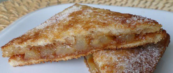 Croques aux poires fondantes et caramel beurre salé