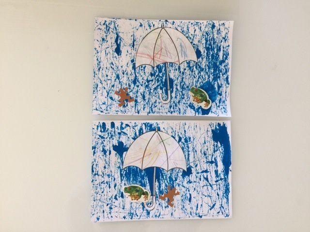 Un parapluie sous la pluie !