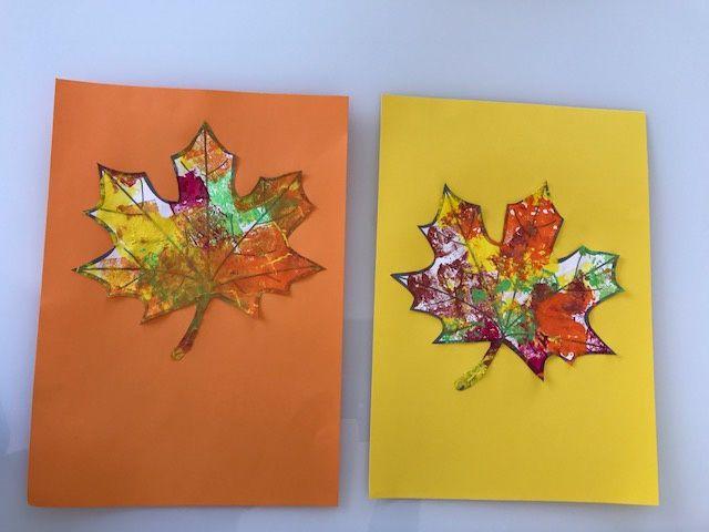 Des feuilles d'automne en peinture