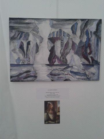 Acrylique ....depuis autoportrait de Durer , destruction reconstruction