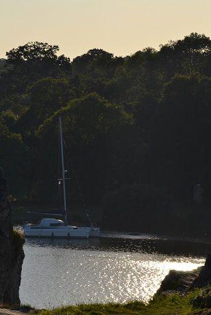 Couché de soleil sur l'eau...