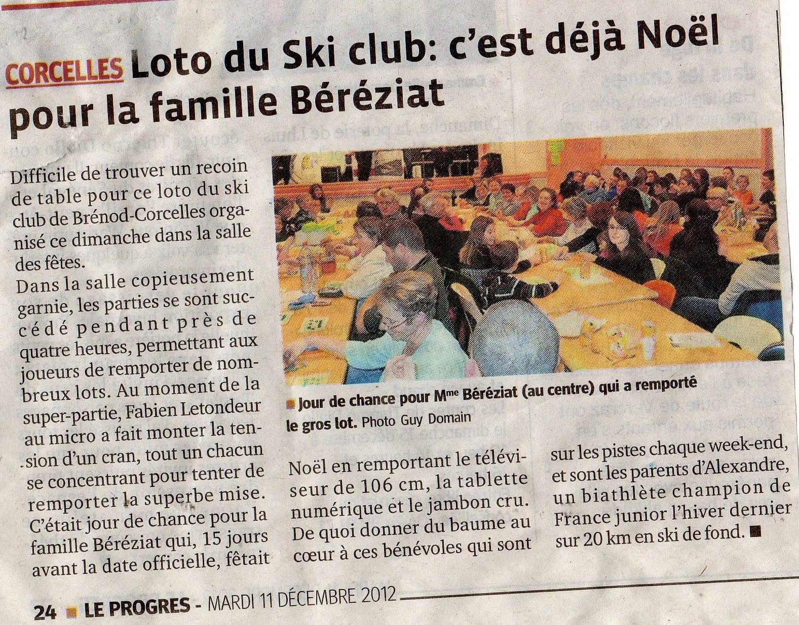 Article loto du SCBC.