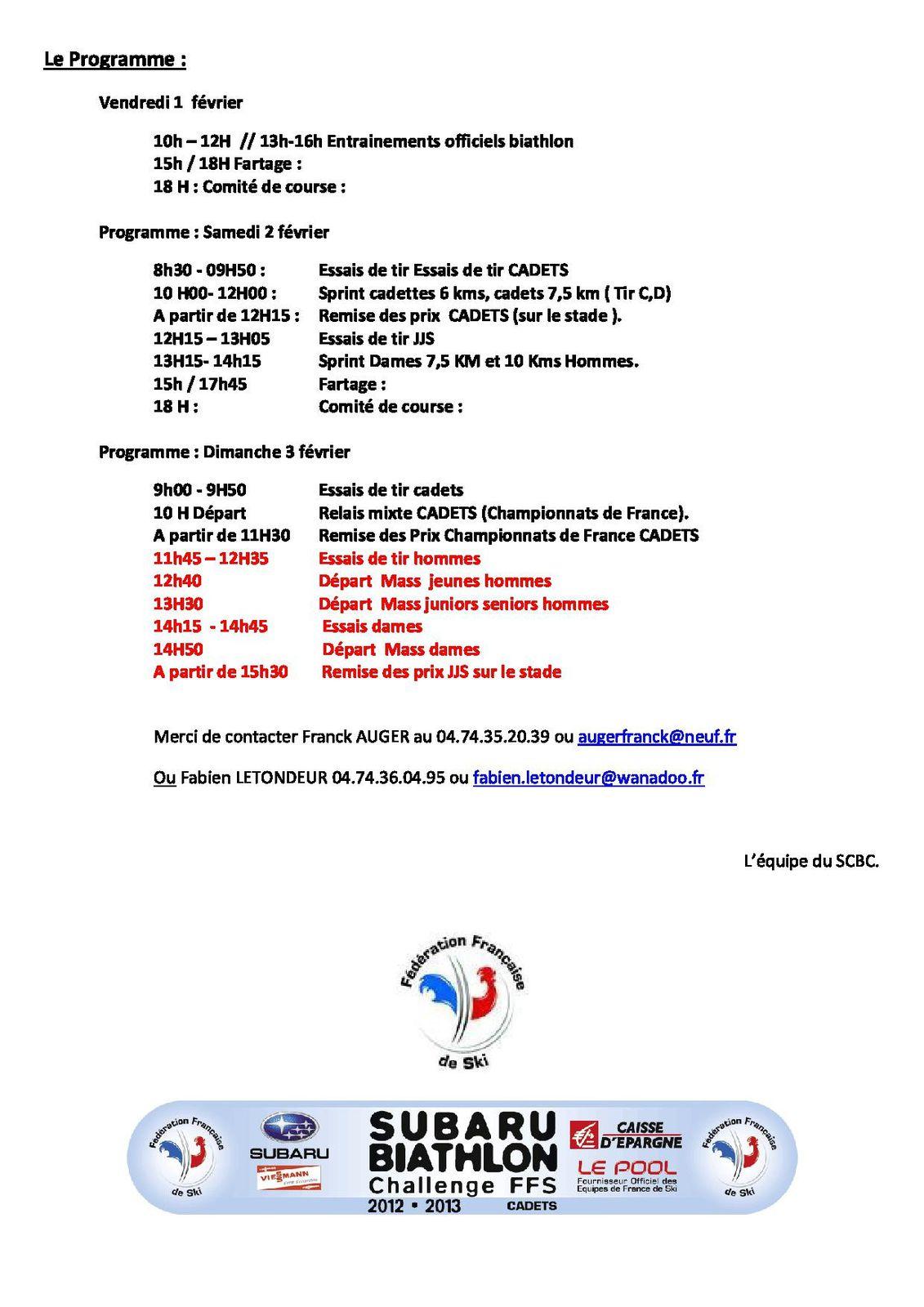 Appel aux bénévoles - Subaru Biathlon Challenge.