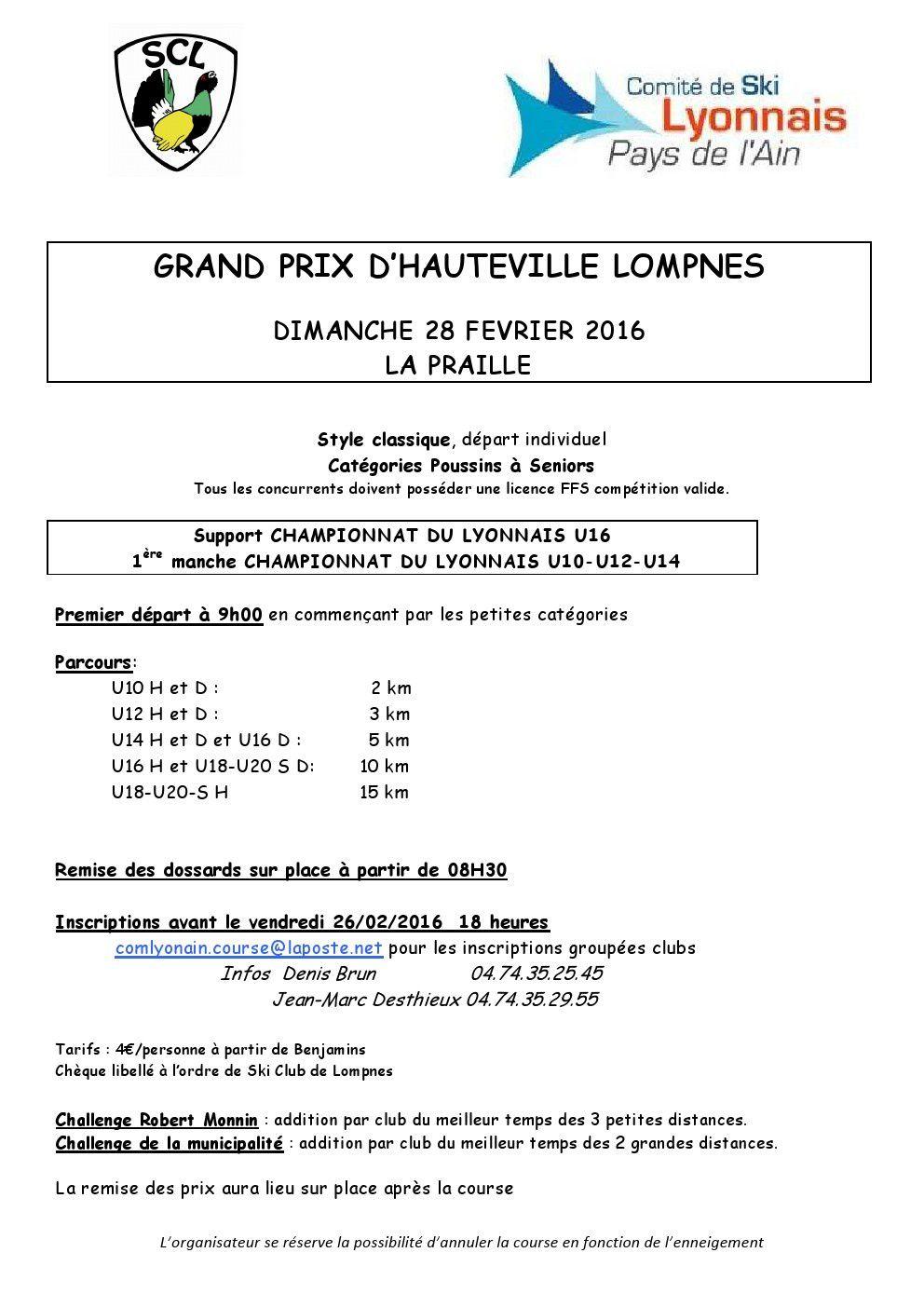 Grand prix d'Hauteville.