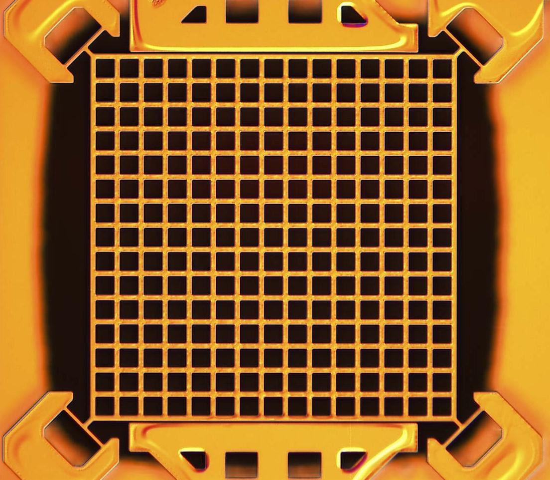 Microsensore stampato su un circuito elettronico. Cortesia: Jize Yan / University of Cambridge / Nokia