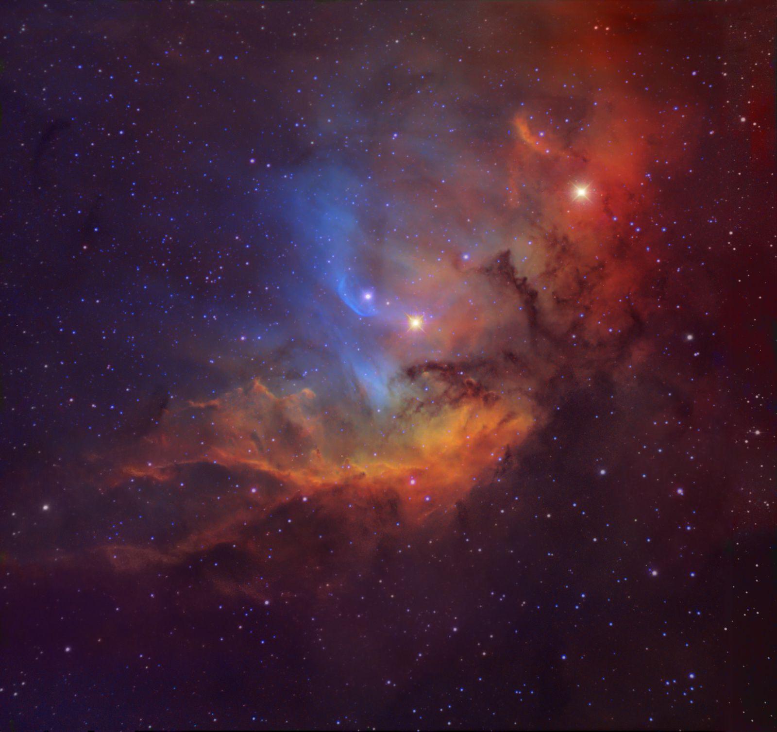 Cortesia: Michael Joner, David Laney (West Mountain Observatory, BYU)&#x3B; Robert Gendler (elaborazione grafica)