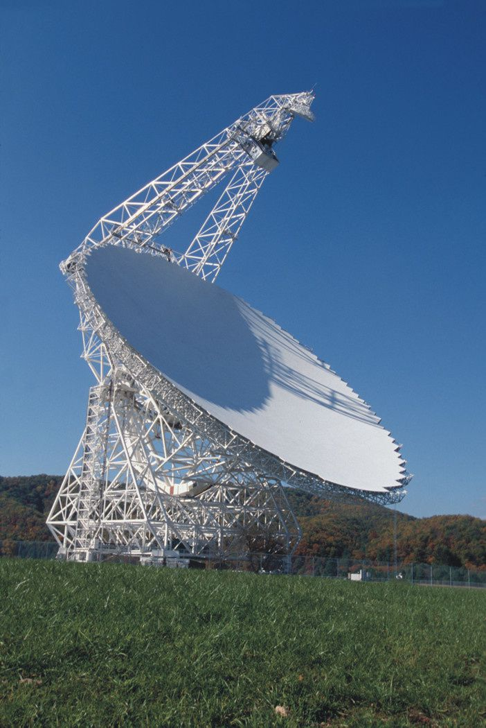 Il Green Bank Telescope in West Virginia (Stati Uniti). Cortesia: NRAO