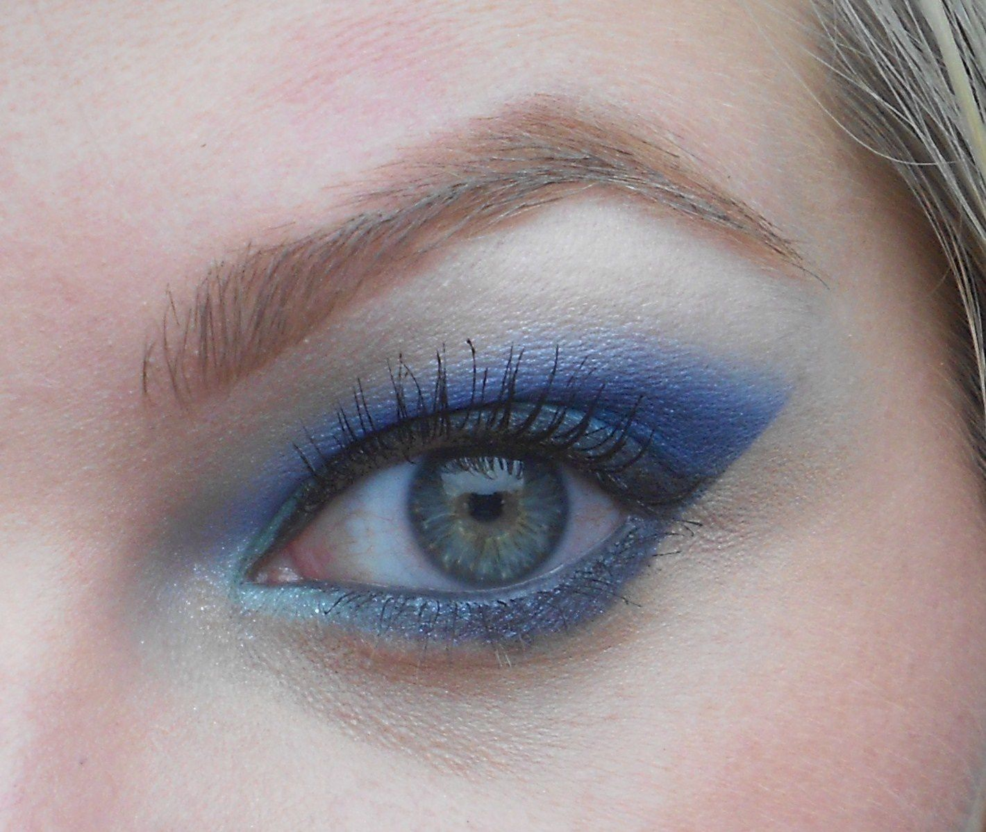 Make -up Bleu pour l'anniv' de Karosweet !!!
