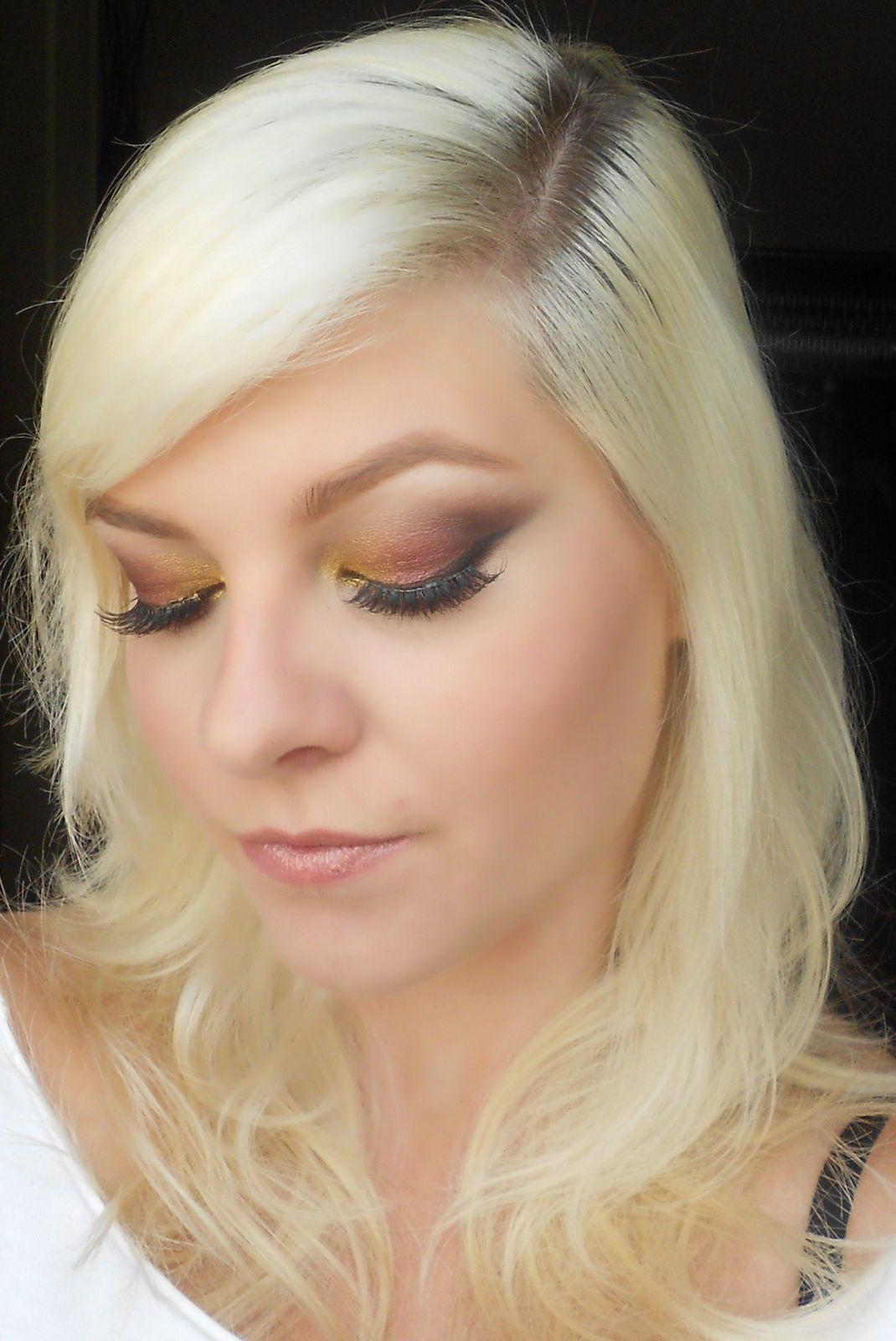Tuto : Bordeaux et doré pour un maquillage Bling Bling !!