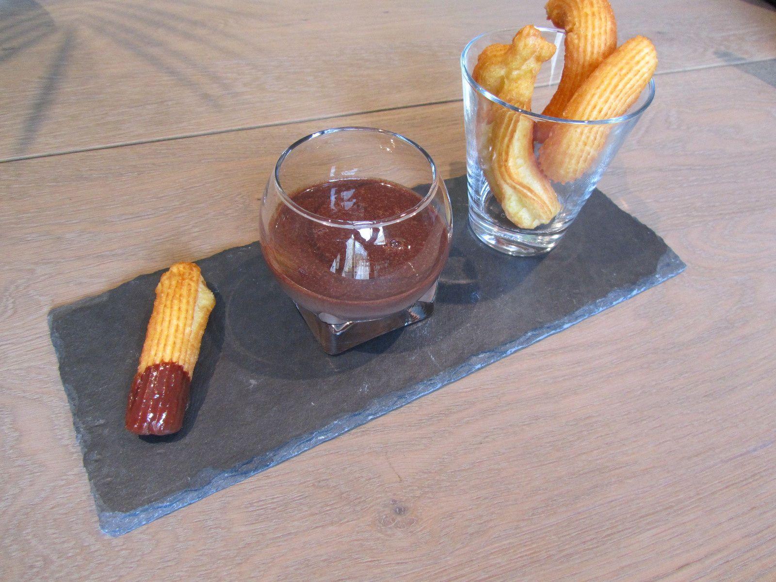 Churros de J.F.Piège sauce chocolat-Nutella - vetcook