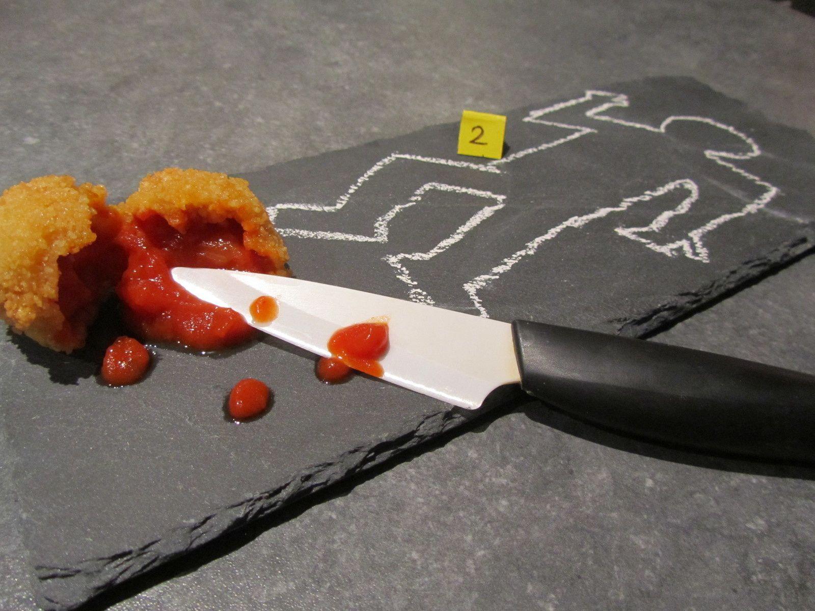 Cromesquis de tomate de Dexter - Défis Cadavre Exquis
