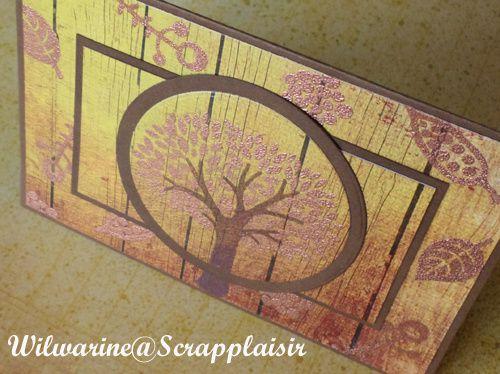 Carte &quot&#x3B;automne doré&quot&#x3B;