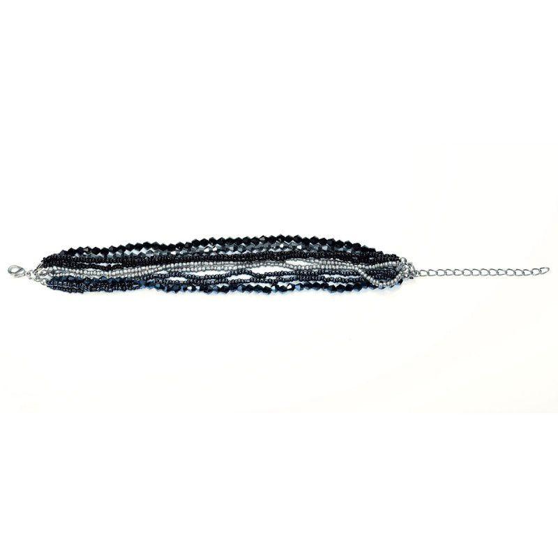 Handmade Seed Bead Crystal Multi Strand Bracelets  :  beaded handmade bead bracelet
