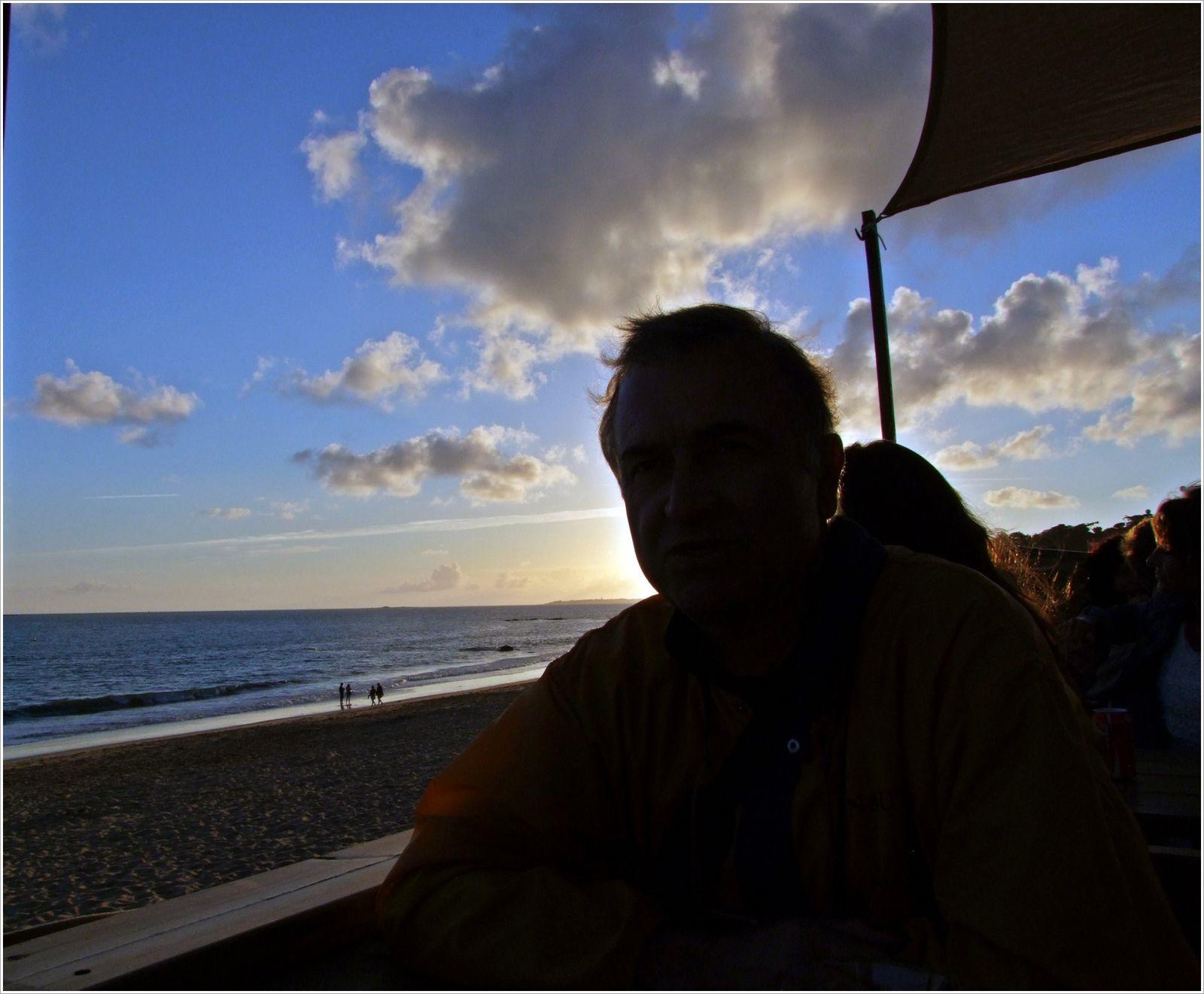 Mojito au coucher de soleil.