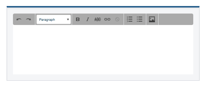 As you can see, you can enter and edit your text as you want: bold, italic, link, bullet point, html attributes... organize it as you need. You can also add an image right into your paragraph, by clicking the corresponding icon.