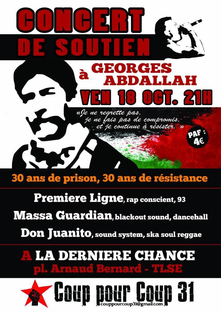 Series of solidarity actions for Georges Abdallah's freedom