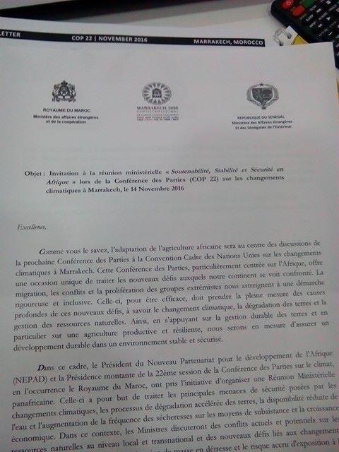 La proposition du Groupe Afrique pour la COP22.