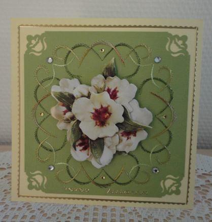 Jolie carte fleurie de Jeannine :-)