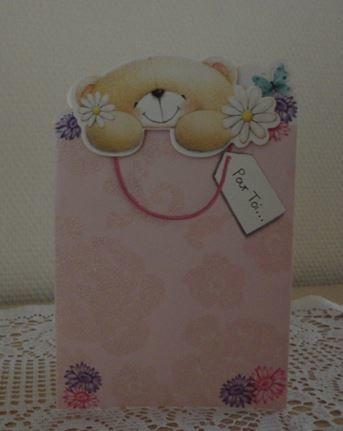 Une jolie carte nounours d'Annie :-)