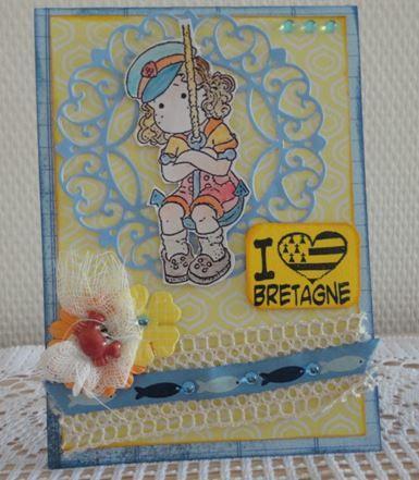 """Une jolie carte """"Bretagne"""" et de chouettes surprises de Ros@lie :-)"""