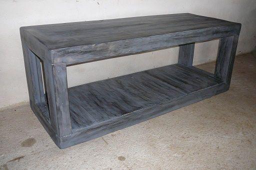 meuble banc t l en bois atelier seconde vie. Black Bedroom Furniture Sets. Home Design Ideas